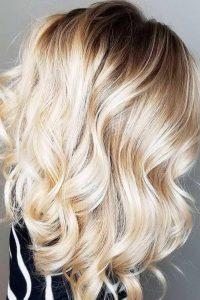 photo balayage sur cheveux blonds