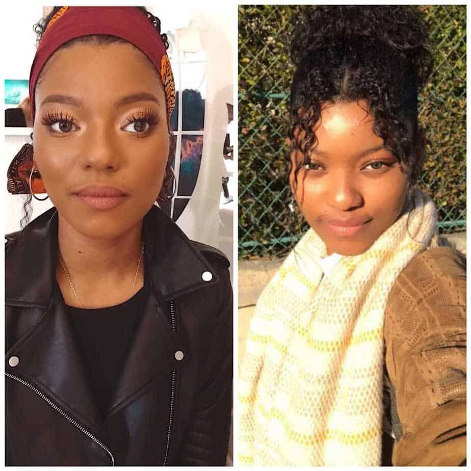 photo modèle maquillage avant après